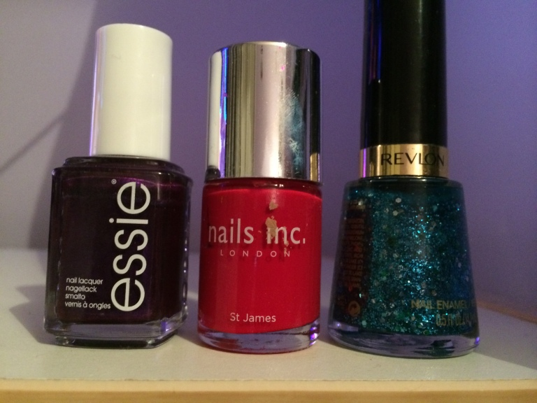 Reds, purples and blue nail colours for AW14