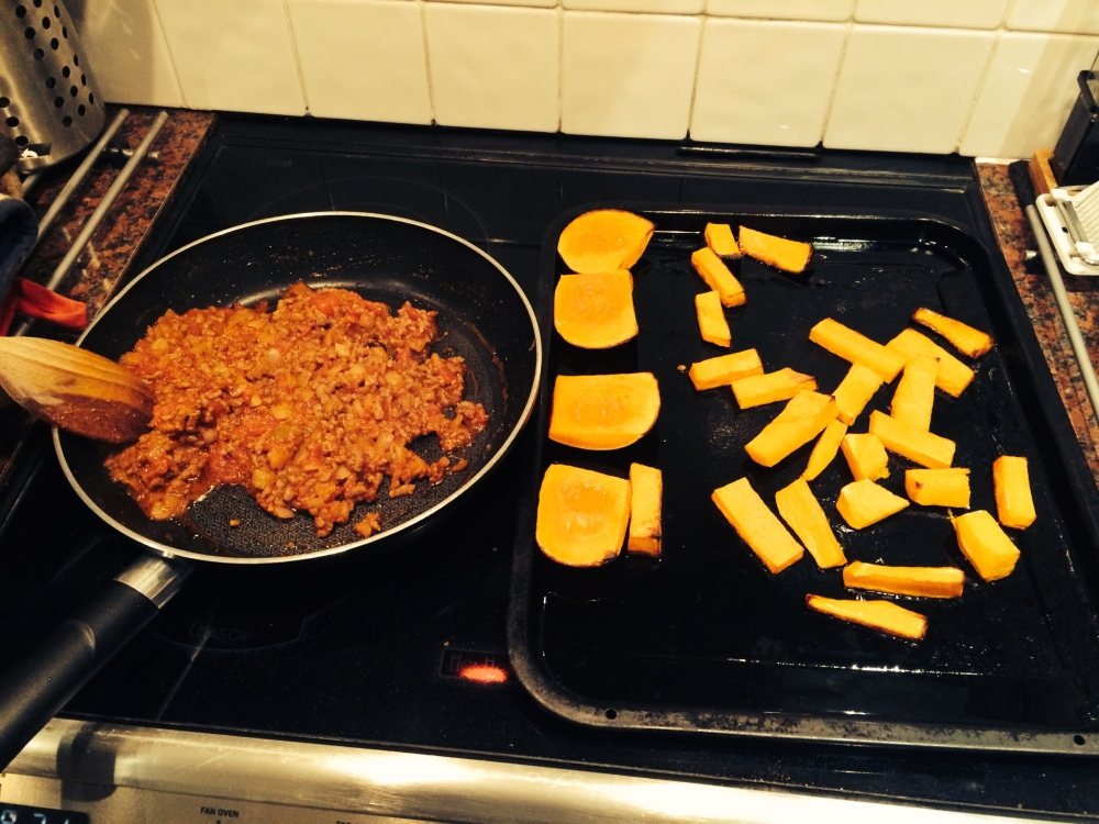 Homemade chilli and butternuut squash wedges